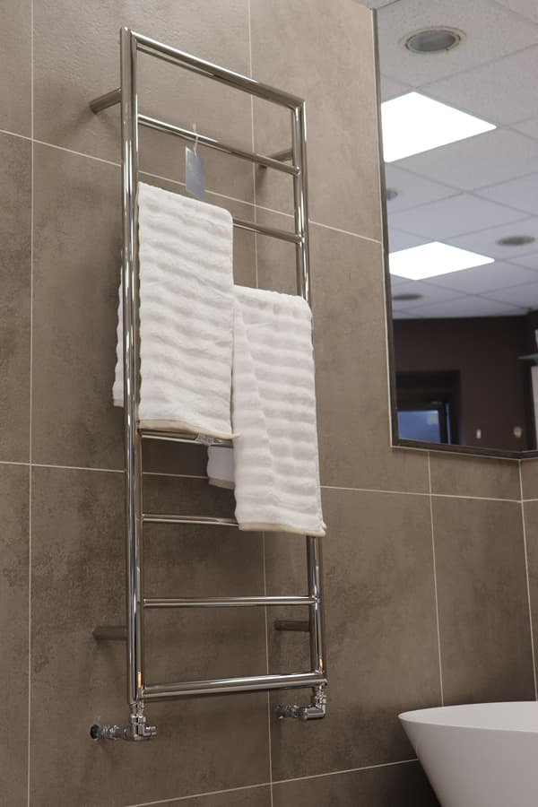 Showroom bathroom with towel rail